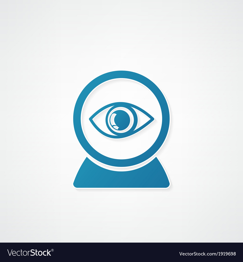 Web camera eye icon vector | Price: 1 Credit (USD $1)