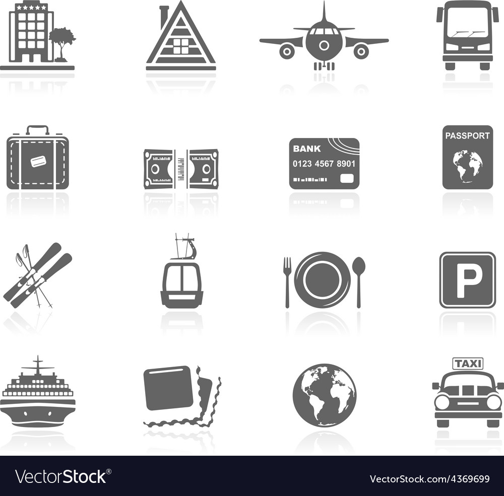 Black icons - vacations vector | Price: 1 Credit (USD $1)