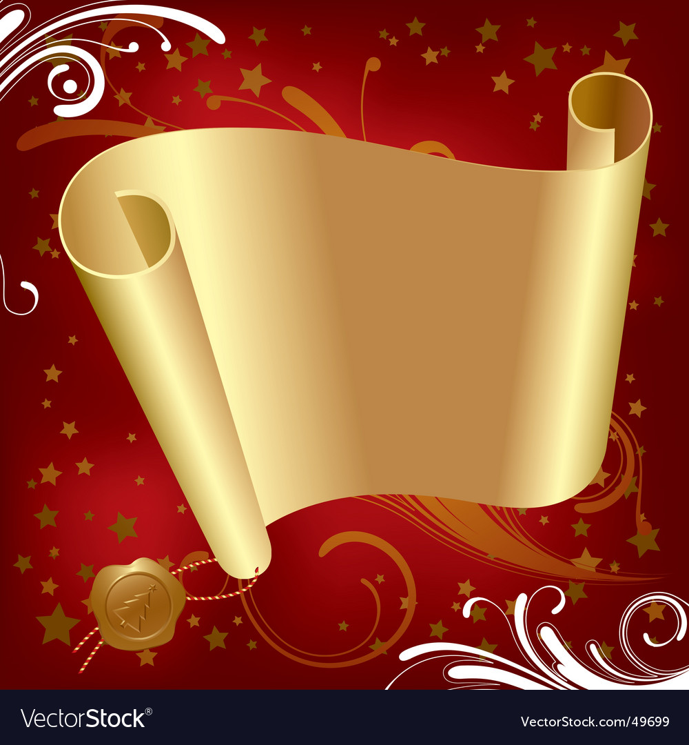 Christmas & new-year's gold parchment vector | Price: 1 Credit (USD $1)