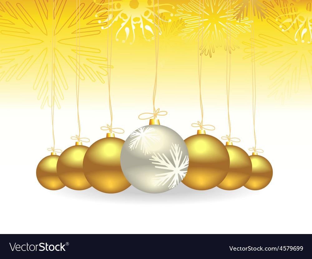 Christmas gold balls vector | Price: 1 Credit (USD $1)