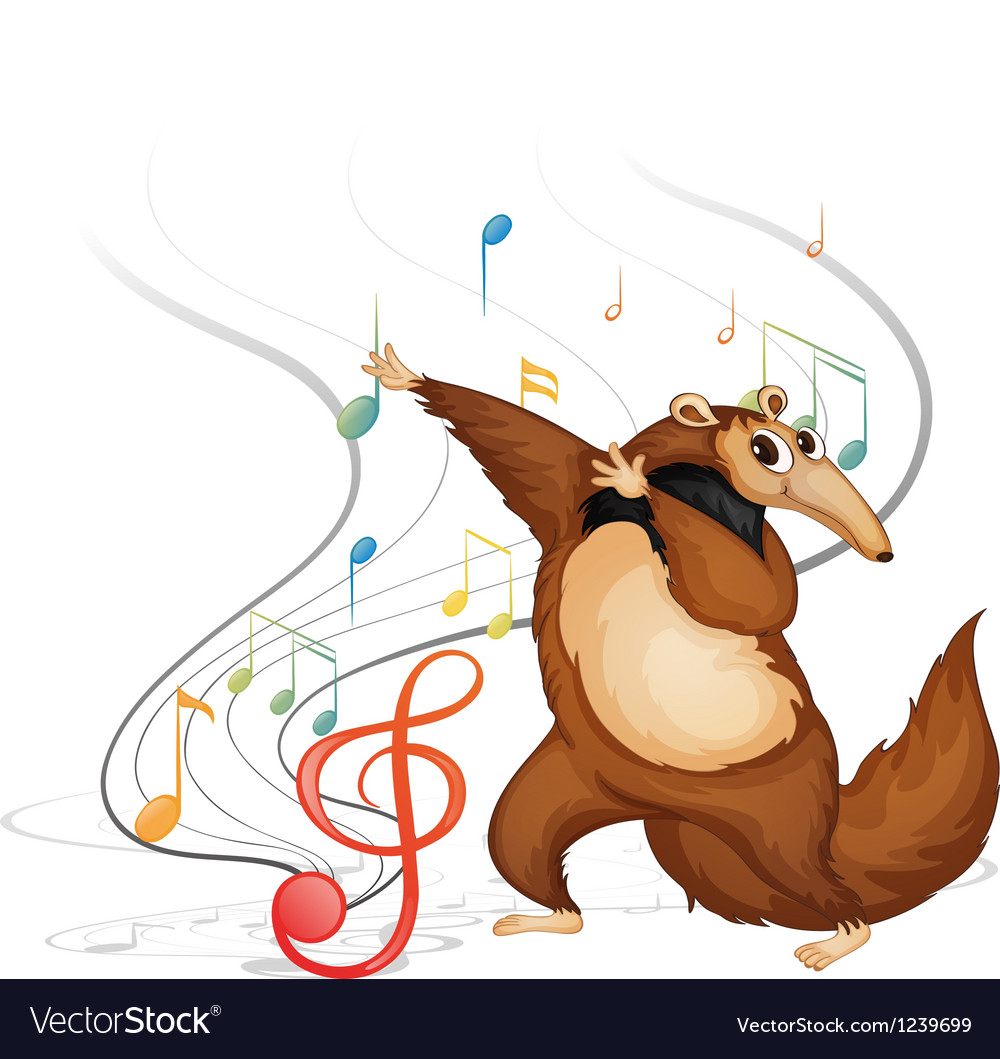 The dancing four-legged animal vector | Price: 1 Credit (USD $1)