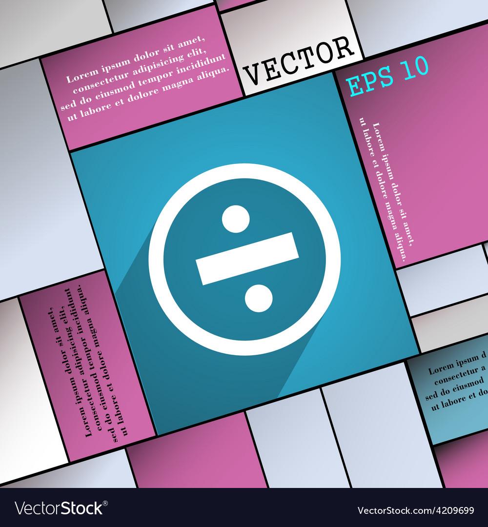 Dividing icon symbol flat modern web design with vector | Price: 1 Credit (USD $1)
