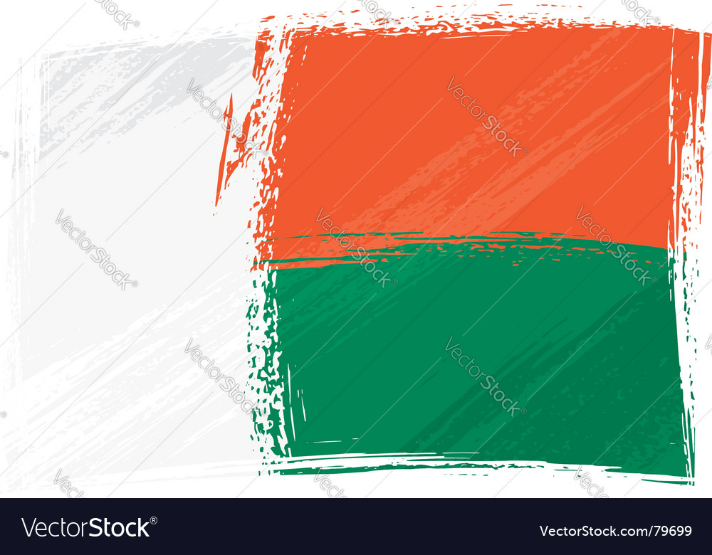 Grunge madagascar flag vector | Price: 1 Credit (USD $1)