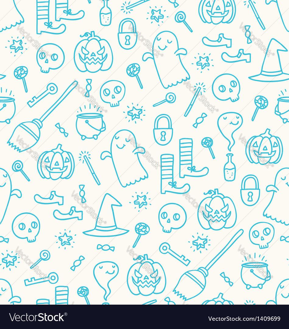 Halloween doodle pattern vector | Price: 1 Credit (USD $1)