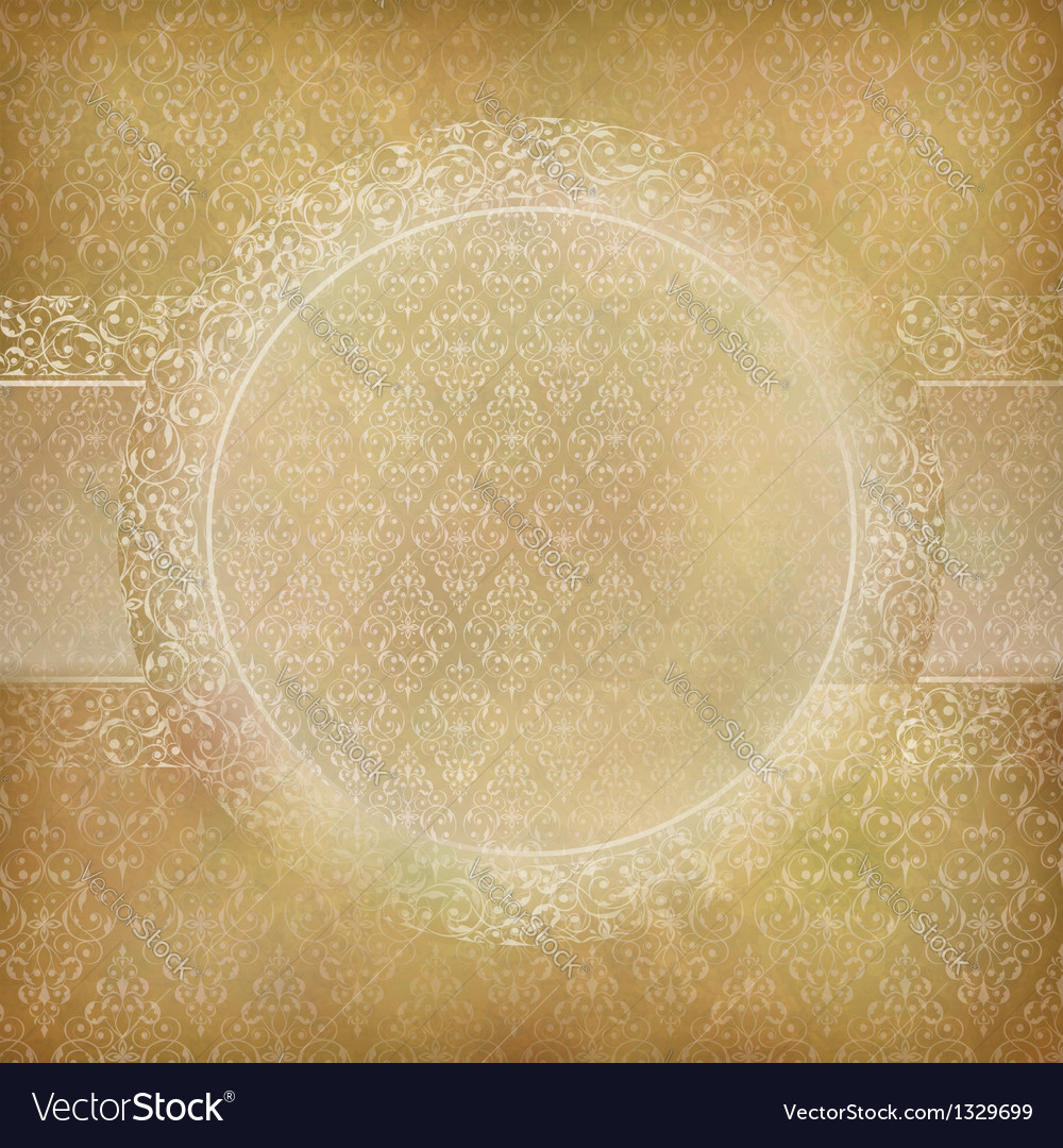 Lace banner card abstract vintage background vector | Price: 1 Credit (USD $1)