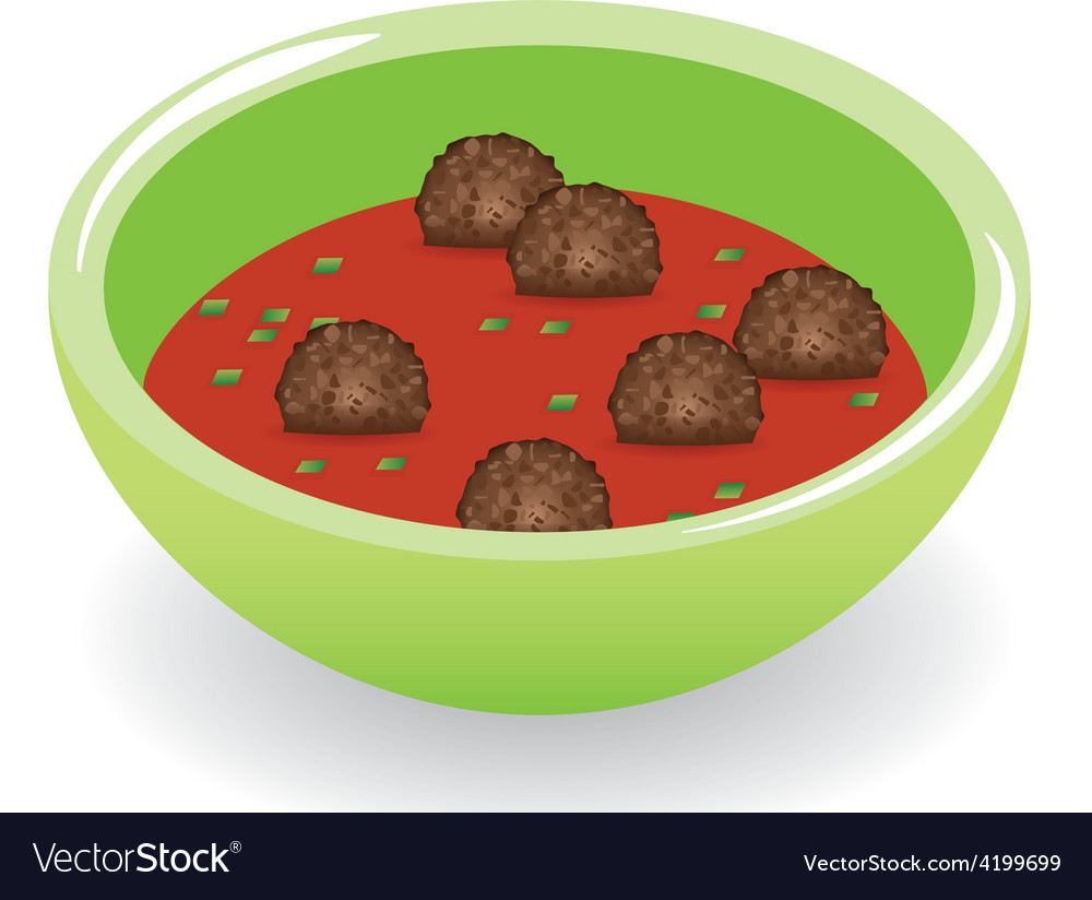 Meatballs in tomato sauce vector | Price: 1 Credit (USD $1)