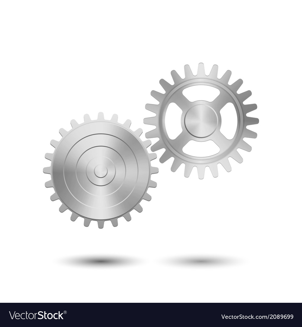 Metallic gears vector   Price: 1 Credit (USD $1)