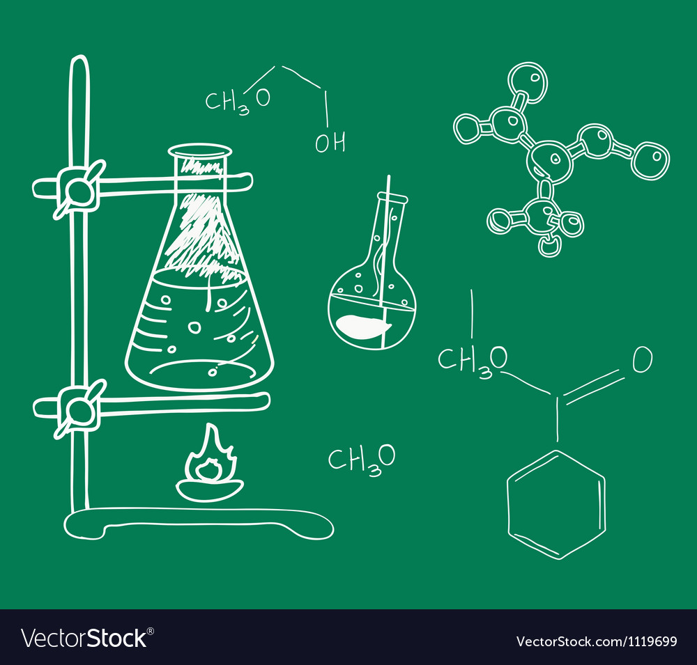 Old science and chemistry laboratory vector | Price: 1 Credit (USD $1)