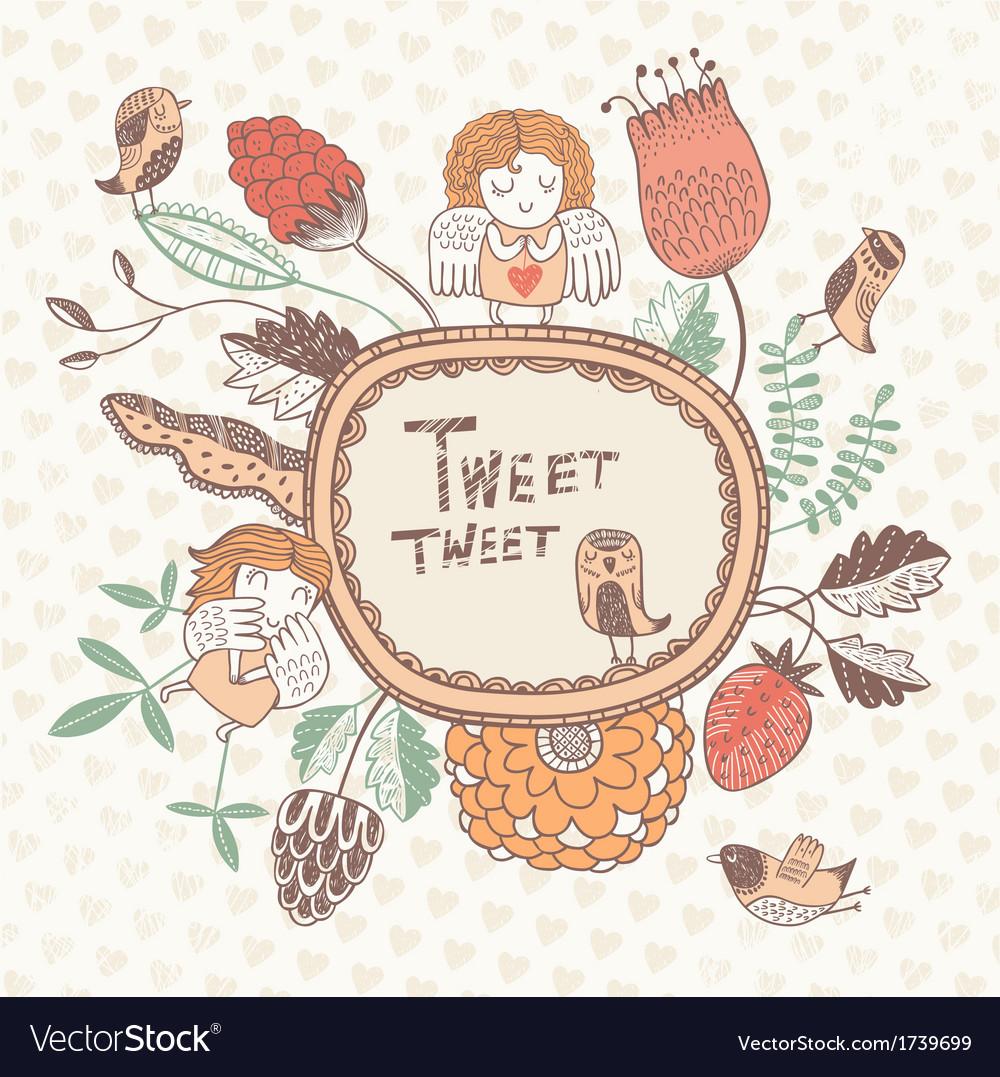 Tweet tweet vector | Price: 1 Credit (USD $1)