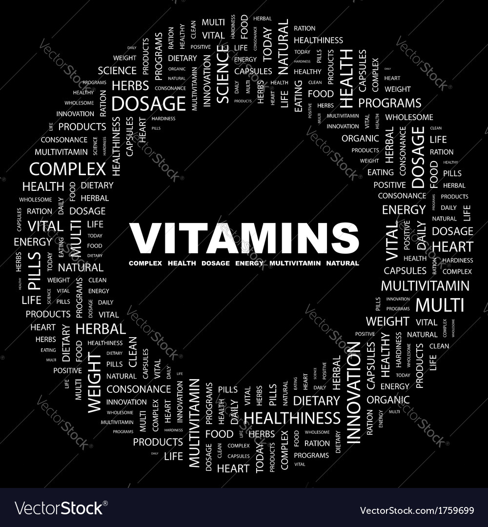 Vitamins vector | Price: 1 Credit (USD $1)