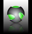 Abstract 3d sphere logos vector