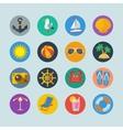 Summer sea holidays icons vector