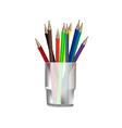 Pencils in glass vector