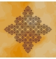 Oriental ornamental motif vintage hand drawn vector