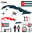 Map of cuba vector