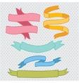Hand drawn doodle ribbon set vector
