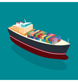 Isometric container ship on the water vector