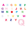 Alphabetical background vector