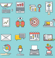 Set of business icons flat line style - part 2 vector