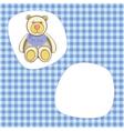 Bear for baby boy vector
