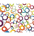 Abstract background with rainbow colored circles vector