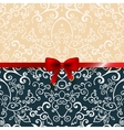 Vintage romantic background floral card vector