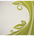 Nature banner grass and leaves vector