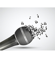 Music microphone background vector