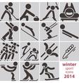 Winter sport icons vector