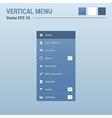 Vertical menu navigation vector