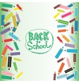 Back to school flat colored pencils on white and vector