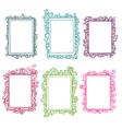 Set of colorful floral frames vector