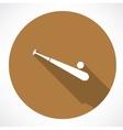 Baseball and baseball bat vector