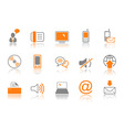 Communication icon set  orang vector