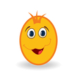 Easter egg character isolated on white background vector