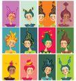 Zodiac sign girls vector