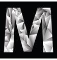 Crystal letter m vector