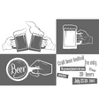 Beer festival two-color poster vector