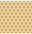 Seamless halloween style skull pattern vector