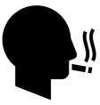 Smoking man icon vector