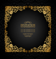 Florish antique vintage frame black and gold vector