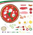 Pizza design elements vector