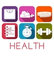 Set of health icon in flat style vector