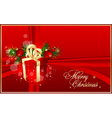 Xmas red background vector