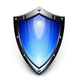 Blue security shield vector