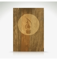 Fire flame burn on wood texture vector