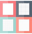 Four white pieces of paper set vector