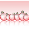 Seamless horizontal border of christmas balls vector