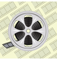 Cinema film tape on disc vector