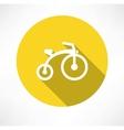 Child bike flat vector